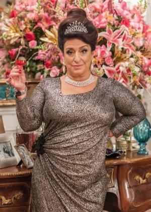Grace Gianoukas como a impagável Teodora Abdala - Artur Meninea/TV Globo