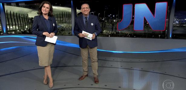 """Galvão Bueno assume apresentação do """"Jornal Nacional"""" no 1º dia da Rio-2016 - Reprodução/TV Globo"""