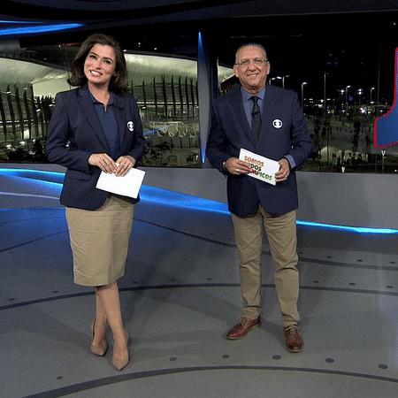 Renata Vasconcelos e Galvão Bueno dividiram apresentação da Globo na Olimpíada do Rio - Reprodução/TV Globo