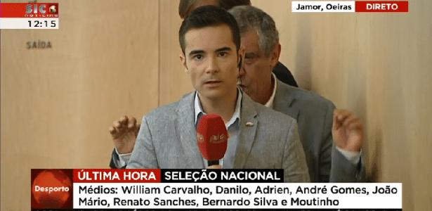 Técnico da seleção de Portugal protagoniza dancinha esquisita ao vivo - Reprodução/SIC Notícias