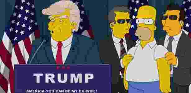 """Em 2015, """"Os Simpsons"""" satirizou anúncio da candidatura de Donald Trump à Casa Branca - Reprodução - Reprodução"""