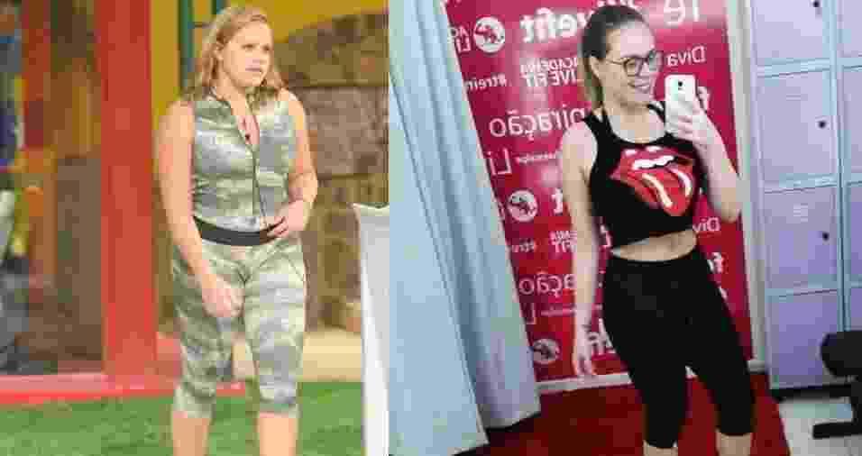 Antes e depois de Paula Leite ex-BBB - Frederico Roz?rio/TV Globo/Reprodu??o/Instagram