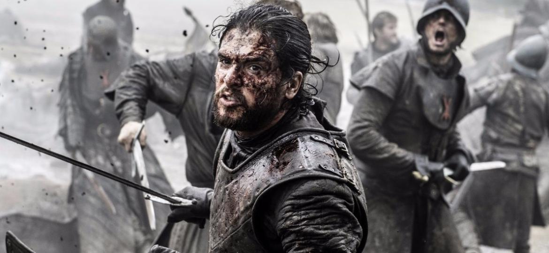 """Jon Snow em cena da """"Batalha dos Bastardos"""" - Divulgação"""