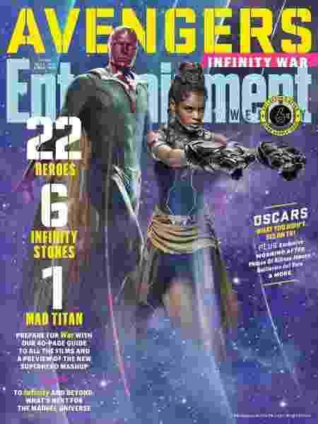 Uma das capas da revista Entertainment Weekly com os Vingadores - Divulgação - Divulgação