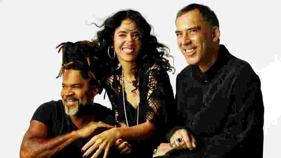 Carlinhos Brown, Marisa Monte e Arnaldo Antunes formam o trio Tribalistas - Divulgação