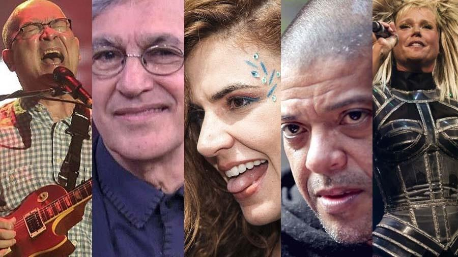 Paralamas, Caetano Veloso, Mariana Aydar, KL Jay e Xuxa estão entre as atrações confirmadas da 14ª Virada Cultural - Montagem UOL
