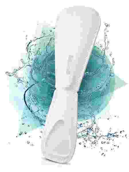 Teste de gravidez Lia poderá ser descartado no vaso sanitário - Divulgação