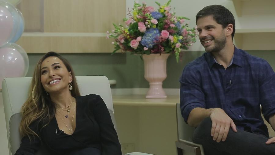 Sabrina Sato e Duda Nagle falam pela primeira vez na TV sobre a gravidez da apresentadora - Divulgação/TV Record