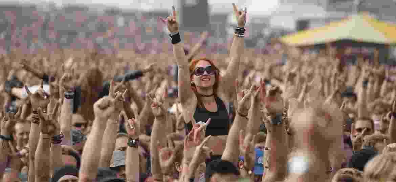 Cena do Wacken Open Air, festival alemão de heavy metal que acontece no verão europeu, em 2014 - Getty Images
