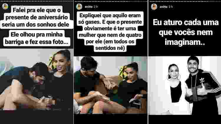 Entre as imagens, estavam algumas divertidas entre Anitta e Thiago Magalhães - Reprodução/Instagram - Reprodução/Instagram