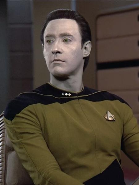 """Brent Spiner como Data em """"Star Trek: A Nova Geração"""" - Divulgação"""