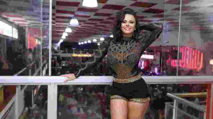 Viviane Araújo já não perde um ensaio na quadra do Salgueiro. A rainha de bateria conta os meses para o Carnaval 2019 - AgNews/Anderson Borde