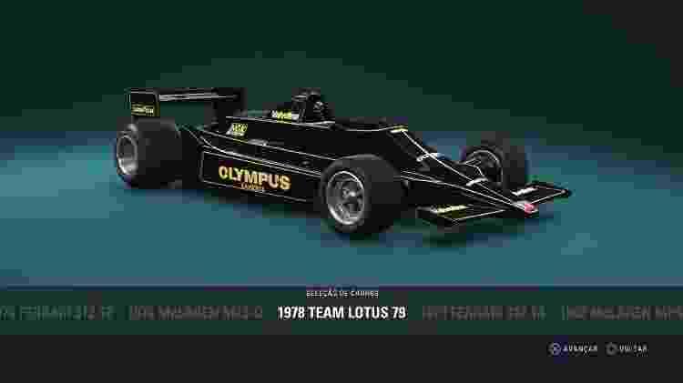 """Carros clássicos em """"F1 2018"""" - Reprodução - Reprodução"""