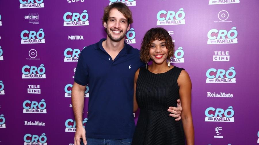 """Aparecida Petrowky e o advogado Diogo D""""Avila no lançamento do filme """"Crô em Família"""" no Rio - Roberto Filho / Brazil News"""