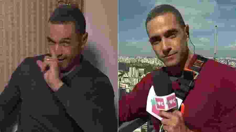 """Fabrício Battaglini, repórter do """"Mais Você"""", apareceu com aliança no dia 24 de setembro e sem anel no dia 19 - Montagem/UOL/Reprodução/TV Globo"""