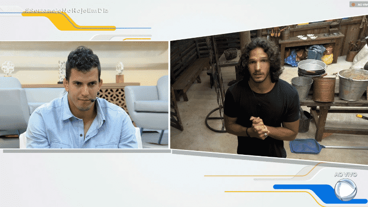 Felipe assiste depoimento de João Zoli - Reprodução/PlayPlus - Reprodução/PlayPlus