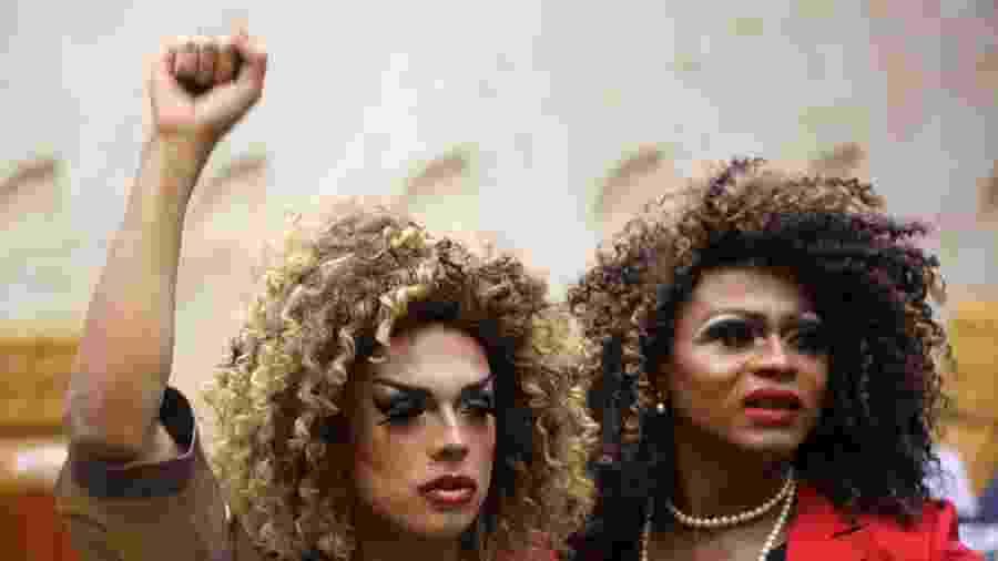 Movimentação durantevotação para criminalização da homotransfobia, no plenário do Supremo Tribunal Federal (STF), na quinta-feira (23) - FÁTIMA MEIRA/FUTURA PRESS/ESTADÃO CONTEÚDO
