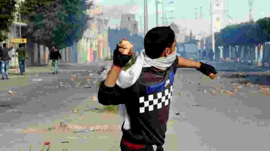 Uma série de manifestações em 2011 levou à derrubada do presidente da Tunísia Zine El Abidine Ben Ali - Getty Images