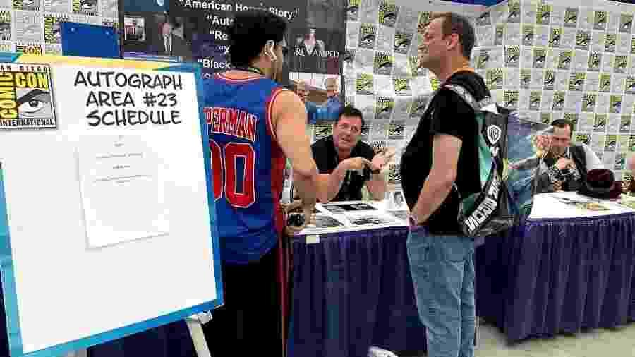 Jeff Rector, ator de pequenos papéis em Hollywood, vende autógrafos na San Diego Comic-Con - Renan Martins Frade/UOL