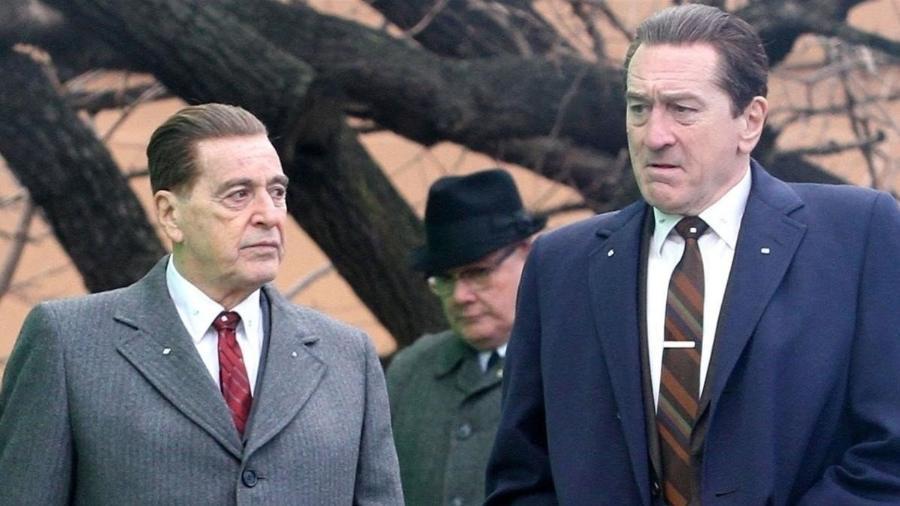 Al Pacino e Robert De Niro em cena de O Irlandês - Divulgação