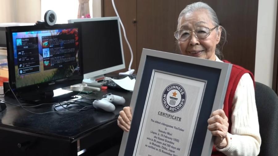 Hamako Mori é a youtuber de games mais velha do mundo - Reprodução