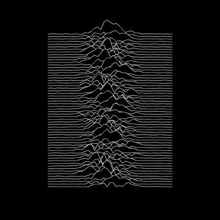 Capa do álbum Unknown Pleasures (1979), da banda Joy Division - Reprodução - Reprodução
