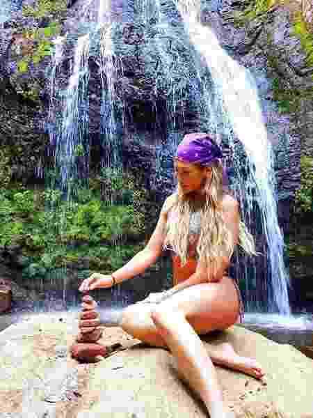 Lívia Andrade curte cachoeira em Santa Catarina - Reprodução/Instagram