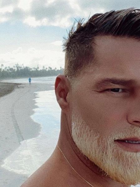 Ricky Martin descoloriu a barba e surpreendeu os fãs  - Reprodução/Instagram