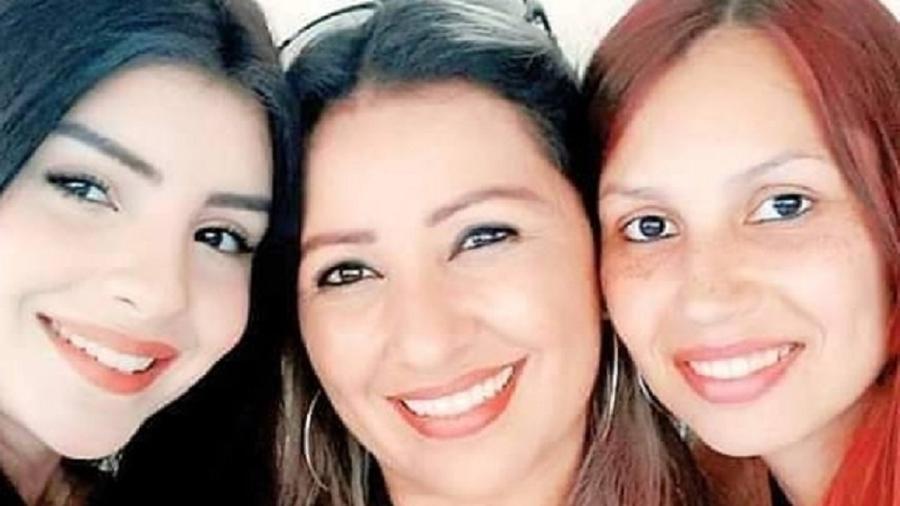 Mabel Calzolari ao lado da mãe Silvia e da irmã Karine - Reprodução/Instagram @mabelcalzolarii
