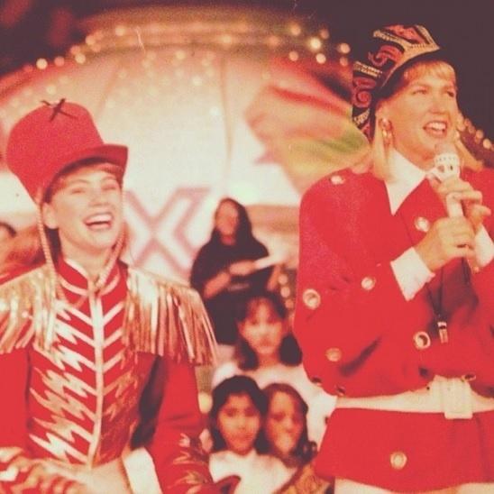 Juliana Baroni com Xuxa quando era paquita