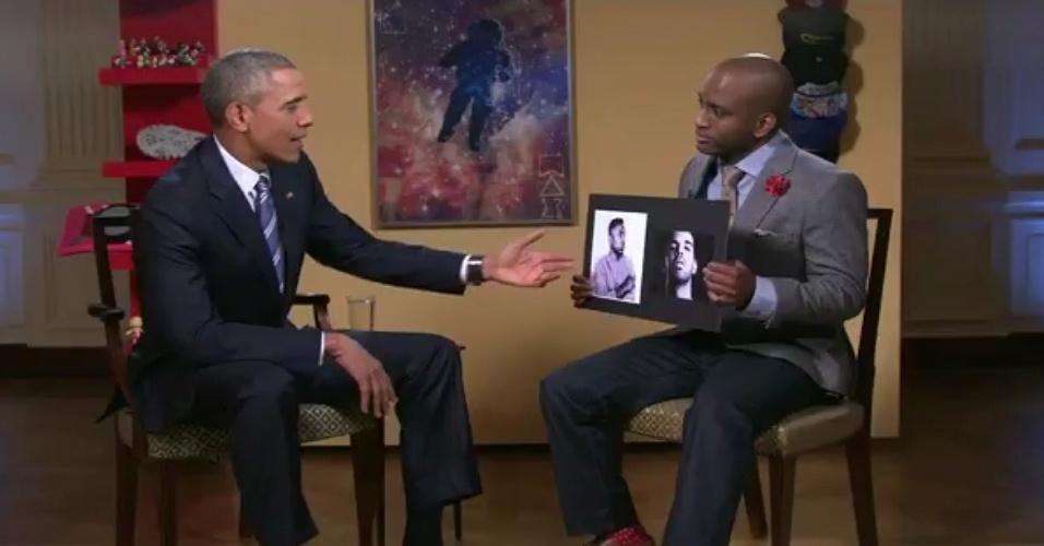 15.jan.2016 - O presidente dos Estados Unidos, Barack Obama, responde a questionário do YouTuber sWooZie sobre sua preferência a Kendrick Lamar