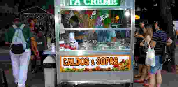 Barraca do E?sio Caldos e Sopas, na Rua do Catete - Divulgação - Divulgação