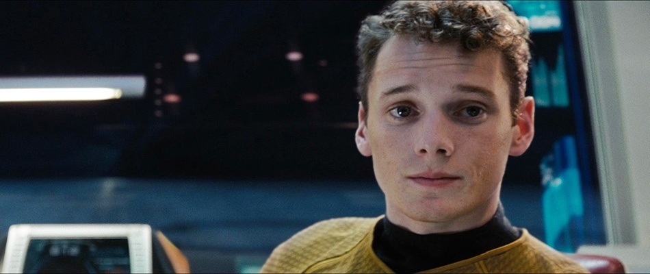"""O ator Anton Yelchin em cena da franquia """"Star Trek"""""""