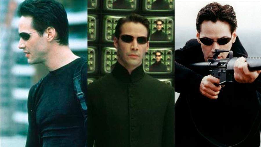 """Cenas dos filmes """"Matrix"""" (1999), """"Matrix Reloaded"""" (2003) e """"Matrix Revolutions"""" (2003) - Montagem/Reprodução"""