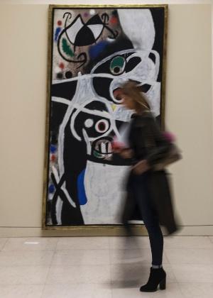 30.set.2016 - Mostra de Joan Miró abre as portas no Museu de Serralves, na cidade portuguesa do Porto -  AFP PHOTO / MIGUEL RIOPA