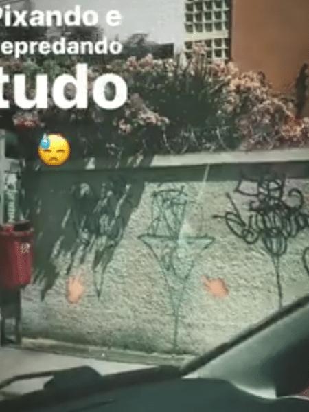 Túlio Gadêlha reclama de pichadores em PE - Reprodução/Instagram/tulio.gadelha
