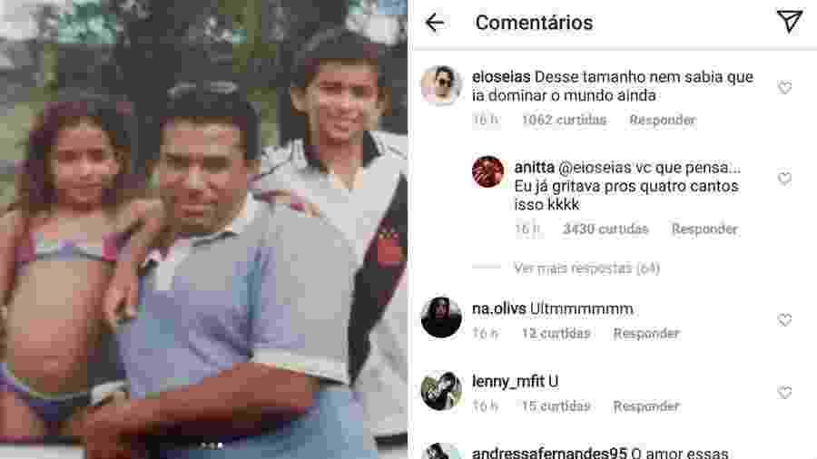 Anitta posta fotos da infância a responde a seguidor - Reprodução/Instagram