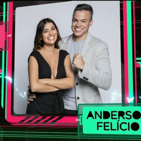 """A campeã do """"BBB16"""" Munik Nunes e o empresário Anderson Felício, seu marido - Reprodução/Record"""