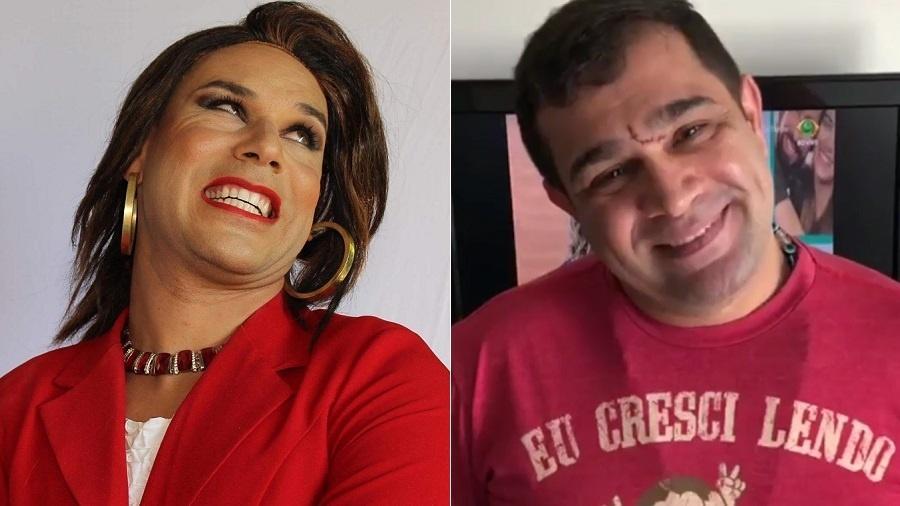 Humoristas Tiago Barnabé e Evandro Santo sofreram acidente automobilístico no interior de São Paulo - Montagem/UOL
