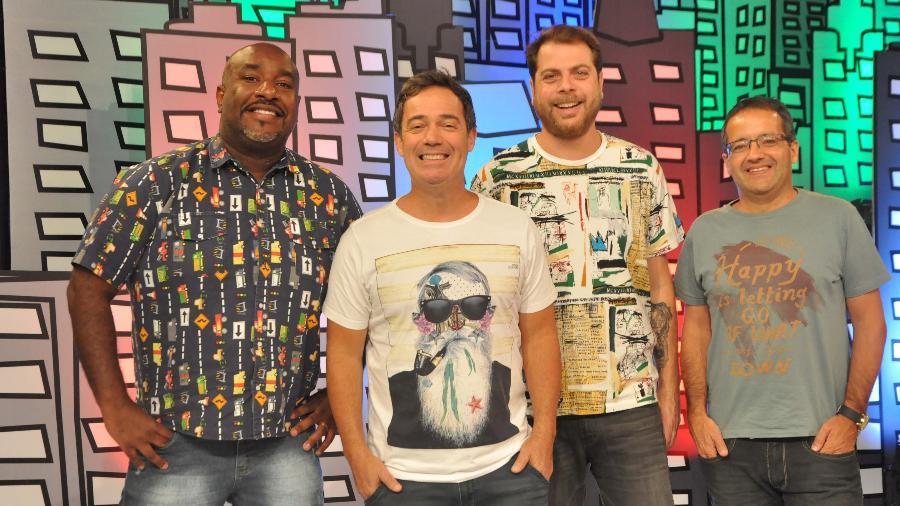 """A equipe enxuta do """"Encrenca"""", da Rede TV! - Rede TV!/Divulgação"""