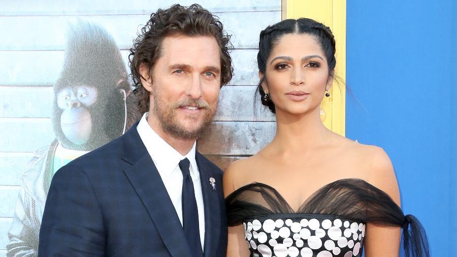 O ator Matthew McConaughey e a modelo Camila Alves - Getty Images