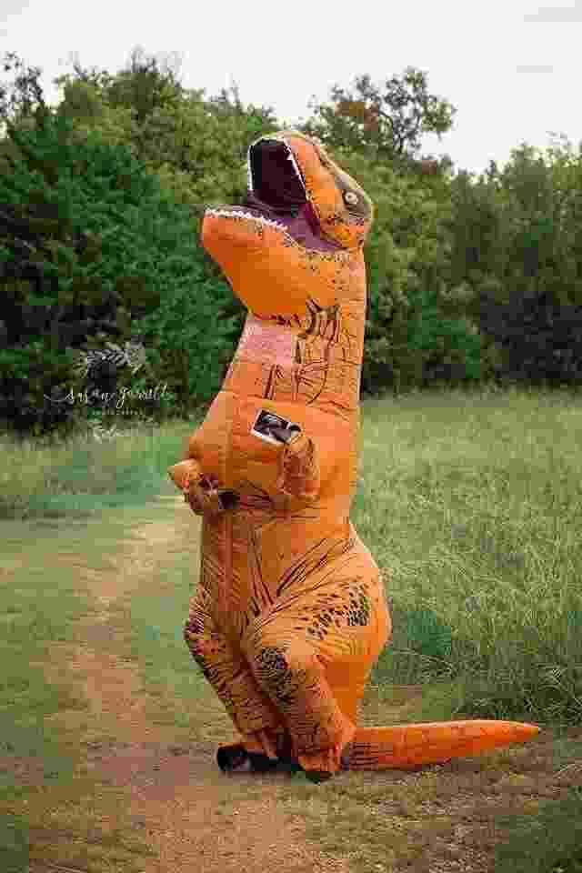 """Família se inspira em """"Jurassic Park"""" para anunciar a vinda do 5º filho - Reprodução/Instagram/@susangarrettphotography"""