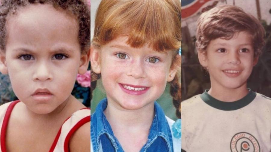Neymar, Marina Ruy Barbosa e Cauã Reymond postaram fotos na infância - Reprodução/Instagram