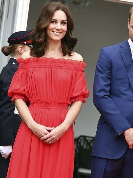 Kate em Berlim, 2017, com o mesmo vestido  - Getty Images