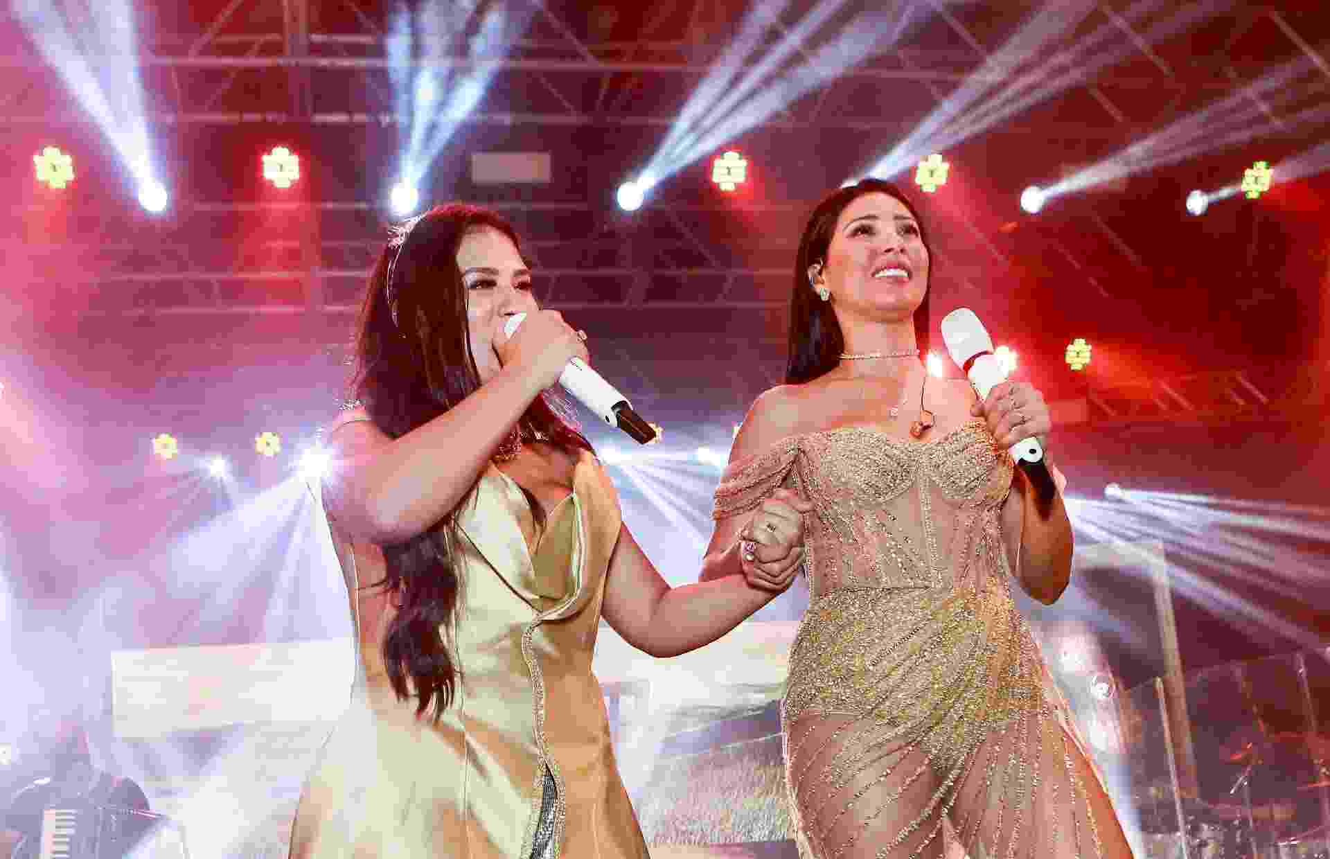 Simone e Simaria cantam em show fechado da marca Rommanel, em Fortaleza - Iwi Onodera/Brazil News