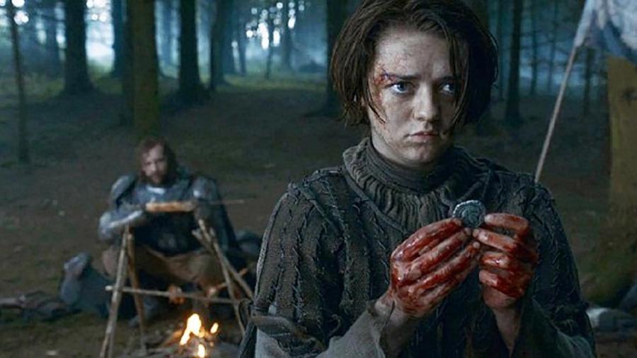 """Arya com o Cão de Caça em """"Game of Thrones"""" - Divulgação"""