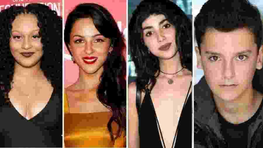 Aliyah Royale, Annet Mahendru, Alexa Mansour e Nicolas Cantu, que estarão no elenco do spin-off de Walking Dead - Getty Images/Reprodução