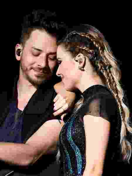 Sandy e Junior durante o show em São Paulo - Manuela Scarpa/Brazil News