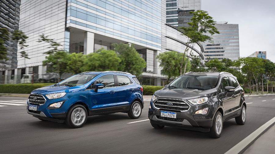 EcoSport (foto), Fiesta e Focus são os modelos equipados no Brasil com a transmissão problemática, lançada em 2013 no País - Divulgação