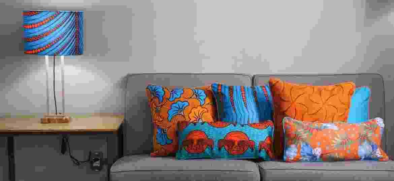 Estampas da Ayo Moda Casa, feitas com tecido africano wax print - Divulgação